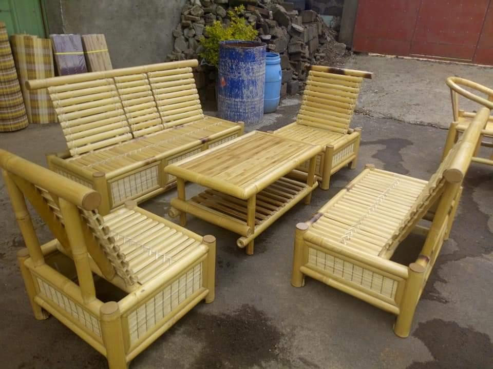 Bamboo Sofa Set Ethica, Bamboo Sofa Set